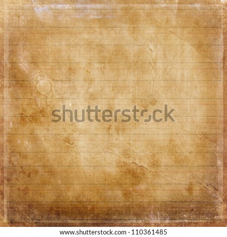 old grunge paper background texture with lines - stock photo
