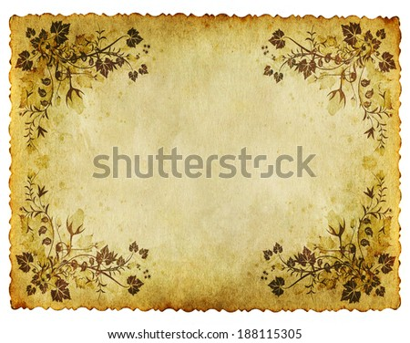 old grunge paper background with vintage retro style  - stock photo