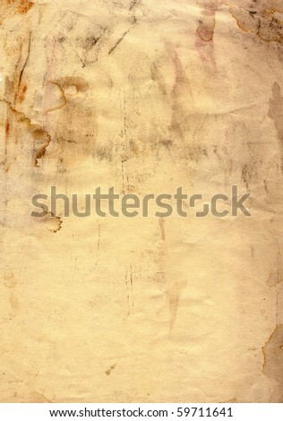 Old grunge paper with blobs - stock photo