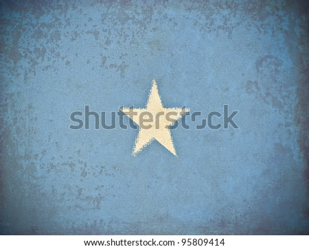 old grunge paper with Somalia flag background