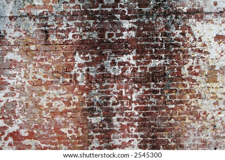 Old grunge style brick wall - stock photo