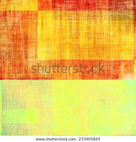 Old grunge template. With different color patterns: orange; red; yellow - stock photo