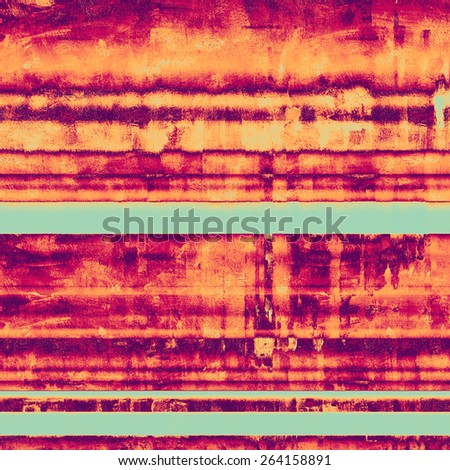 Old grunge template. With different color patterns: purple (violet); cyan; pink; red (orange) - stock photo