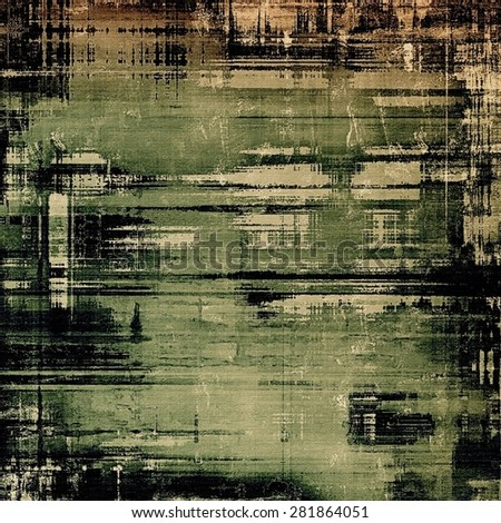 Old grunge textured background. With different color patterns: yellow (beige); brown; black; green - stock photo