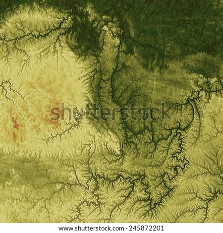 Old grunge textured background. With different color patterns: yellow (beige); brown; green - stock photo