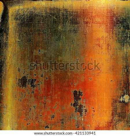 Old grunge vintage background or shabby texture with different color patterns: yellow (beige); brown; red (orange); gray; black - stock photo