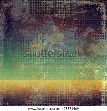 Old grunge vintage background or shabby texture with different color patterns: yellow (beige); brown; green; red (orange); gray; purple (violet) - stock photo