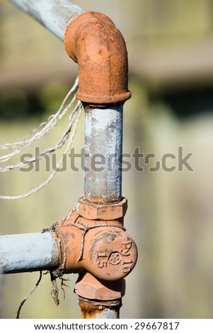 old grunge water pipes - stock photo