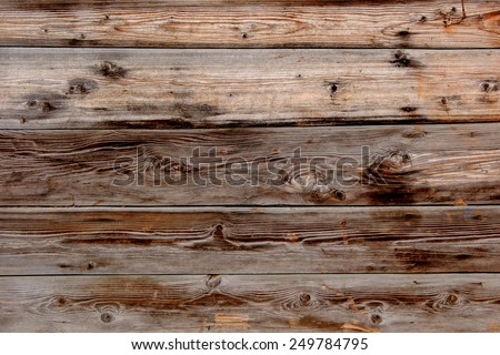 Old grunge wood panels. Brown wood plank wall texture background - stock photo