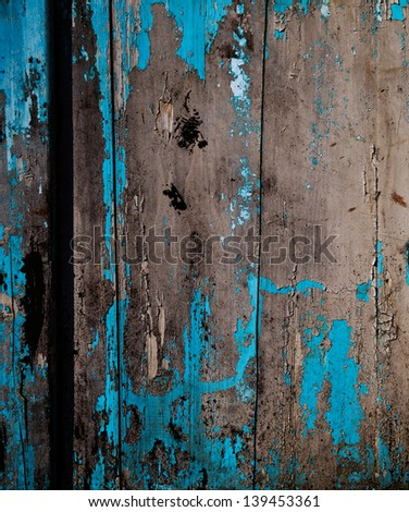 old, grunge wood panels used as background. - stock photo