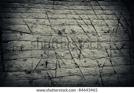 old grunge wood texture in black and white toning - stock photo