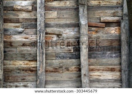 Old grunge wooden wall - background texture.