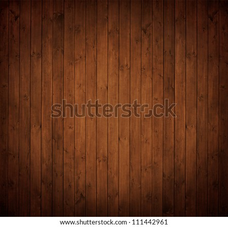 old, grunge wooden wall used as background; oak: Quercus robur. - stock photo
