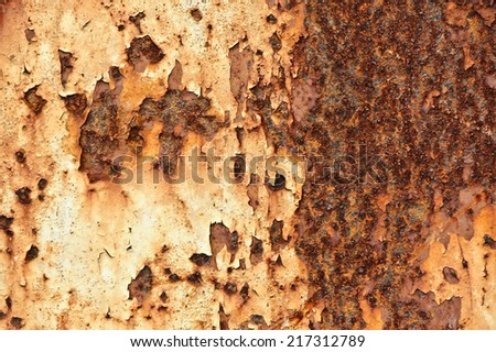 Old grungy distressed rusted metal - stock photo