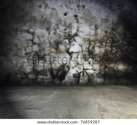 old grungy interior, dirty texture - stock photo