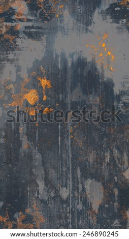 Old Grungy Metal Texture with Rust Stains - stock photo