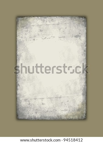 Old grungy paper with scratches - stock photo