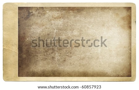 Old grungy photo against a white background - stock photo
