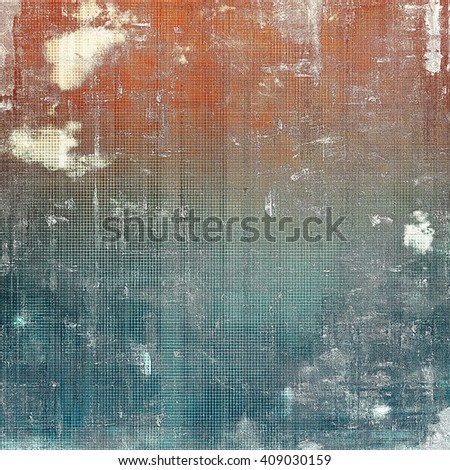 Old grungy stylish composition, vintage texture with different color patterns: brown; blue; red (orange); gray; white - stock photo