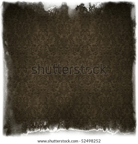 Old grungy victorian framed background - stock photo