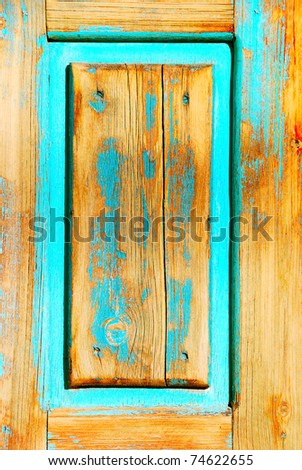 Old grungy wooden background with a color appearance - stock photo
