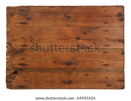 Old, grungy wooden board - stock photo