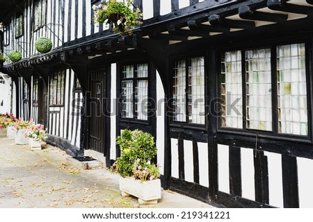 old half timbered house henley in arden warwickshire uk