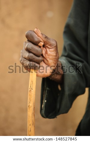 old hand - stock photo