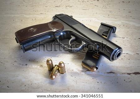 Old handgun - stock photo