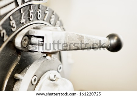 old handle at a machine - stock photo