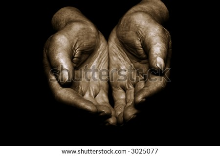old hands - stock photo