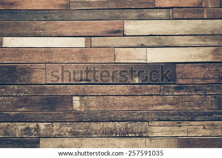 old hard wood plank wall background - stock photo