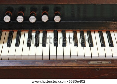 old harpsichord - stock photo