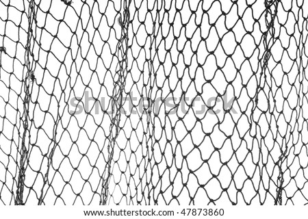 Old hemp fishing net pattern. Use horizontal or vertical. - stock photo