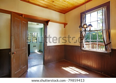 Old historical kitchen interior. Amazing home from 1856 has never been touched since then. All details remain original. Lakewood, Washington State, US. - stock photo