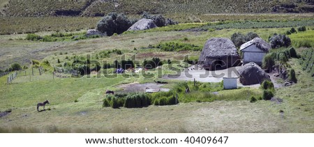 Old home in Andes mountains - stock photo