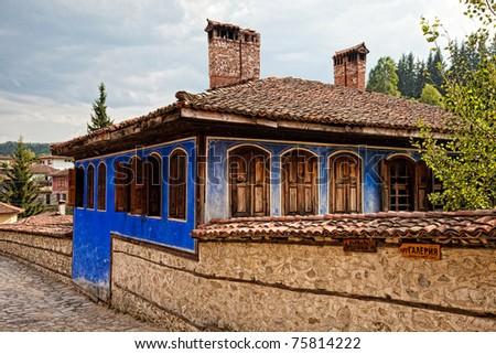 Old home in historic Koprivshtitsa, Bulgaria. - stock photo