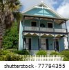 old home restored for sale at historic st. augustine florida usa - stock photo