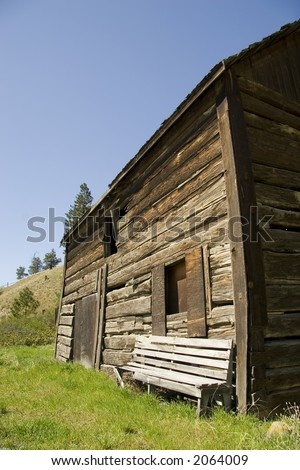 old homestead building - stock photo