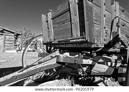 Old Horse Drawn Wagon - stock photo