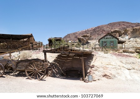 Old horse drawn wagon in Calico