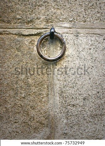 Old horse ring - stock photo