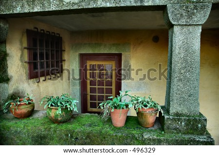 Old house entrance