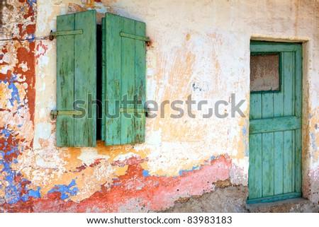 Old house facade - stock photo