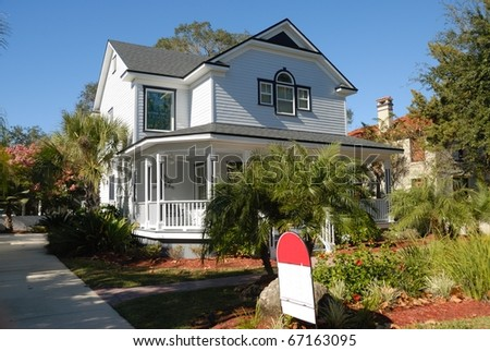 old house for sale st augustine florida usa - stock photo