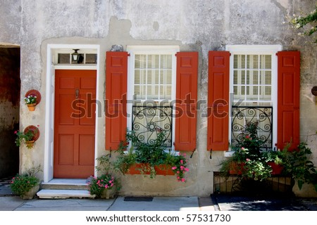 Old house in Charleston, SC - stock photo