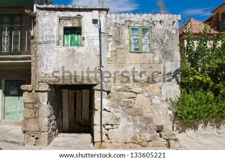 old house in Combarro, Ponetevedra, Galicia, Spain