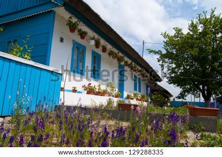 Old House in Letea Village, Danube Delta - stock photo