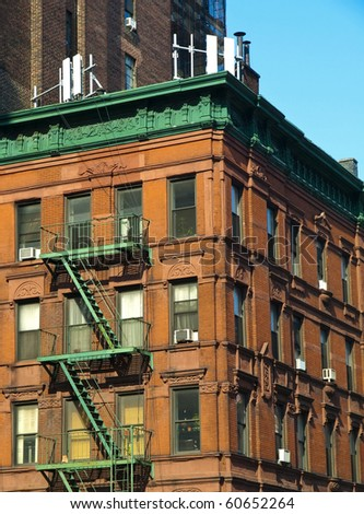 Old House in Manhattan - stock photo