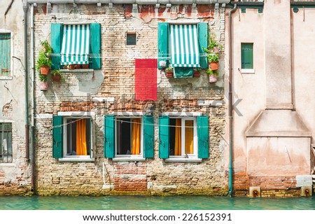 Old house in Venice, Italy. - stock photo